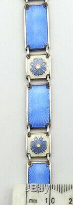 Vintage Norway D-A (David Andersen) sterling silver enamel bracelet 7 ½ L