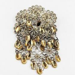 Vintage Norwegian SØLJE Brooch Pin 830 Silver Bunadsolv Jewelry