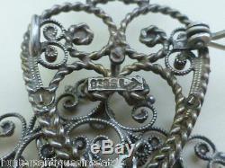 Vintage Norwegian Solje 830 Silver Brooch Wedding Brooch
