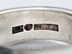 Vintage Pekka Piekainen Finland Sterling Silver Modernist Ring Sz 6.75 To Sz 7