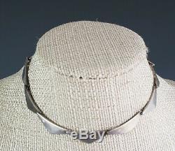 Vintage Scandinavian Hans Hansen Sterling Silver Necklace Denmark Georg Jensen