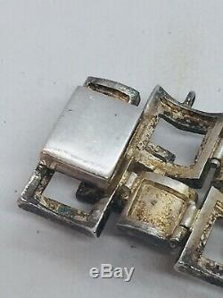 Vintage Scandinavian Sterling Silver Modernist Heavy Unusual Bracelet