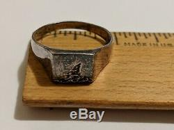 Vintage Size 12 Sterling Silver Ring Danish Niels Erik From Signed From925s