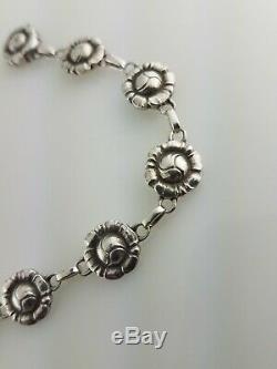 Vintage Sterling GEORG JENSEN Bracelet floral / flower design no. 45 Denmark