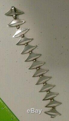 Vintage Sterling Silver 1960's Modernist Bracelet Signed by Warmind Denmark Poul