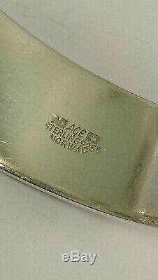 Vintage Sterling Silver AGE Norway Modernist Bangle Bracelet by Anna Greta Eker