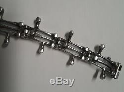 Vintage Sterling Silver Brutalist Bracelet Kultateollisuus Finland Finnish