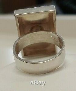 Vintage Sterling Silver Finland Kupittaan Kulta Turku Modernist Ring Size 7