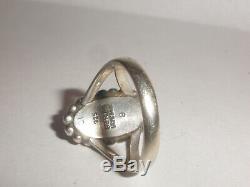 Vintage Sterling Silver Georg Jensen 9 Denmark Lapis Ring Size 6.5