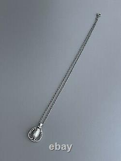 Vintage Sterling Silver Georg Jensen Year Pendant 1990 With Box