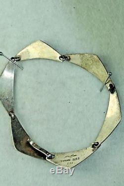 Vintage Sterling Silver Hans Hansen Peak Bracelet #238 Denmark