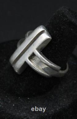 Vintage Sterling Silver Hans Hansen Ring Modernist Denmark Size 7.5