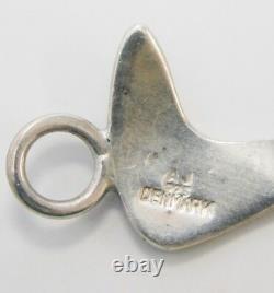 Vintage Sterling Silver Modernist Bracelet & Earrings by Arne Johansen Denmark
