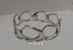 Vintage Sterling Silver Modernist Bracelet Signed by AJ Denmark Arne Johansen