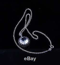 Vintage Swedish Bengt Hallberg 925S Sterling Rock Crystal Pendant approx 1960s