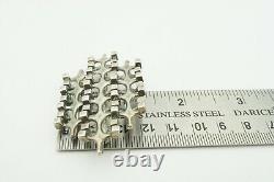 Vintage UNI D-A David Andersen INV M. B. Sterling Silver 925 Brutalist Pin Brooch