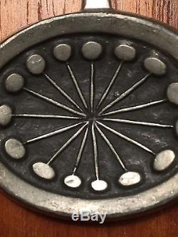 Vintage tennesmed modern mid century pendant pewter Scandinavian EUC