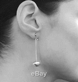 Vivianna Torun Bulow-Hube for Georg Jensen Denmark Drop Earrings vintage 1960s