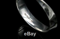 Vivianna Torun for Georg Jensen Sterling Silver Bangle Bracelet #206 Mobius