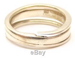 Vtg Anna Greta Eker Sterling Silver Ring Sz 7.75 Norwegian Modernist Norway Coil