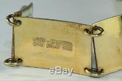 Vtg David Andersen Sterling Silver Rose Enamel Bracelet