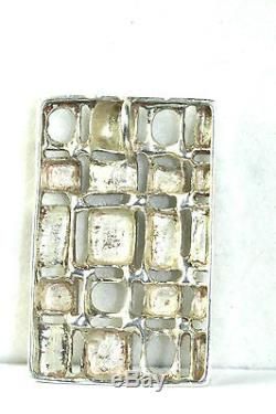 Vtg Elvik Norway Sterling Silver Modernist Modern Art Sterling Silver Pendant