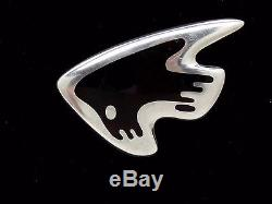 Vtg GEORG JENSEN Signed 925 Sterling #307 Brooch Pin Modernist HENNIG KOPPEL HK