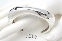 Vtg Georg Jensen Minas Spiridis Sterling Modernist Cuff Bracelet #456 Denmark