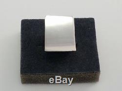 Vtg Kaunis Koru Finland Gigantic Sterling Silver Modernist Statement Ring 5.75