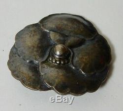 Vtg Signed Gorg Jensen 113 Denmark Pansy Sterling Silver Pin Brooch