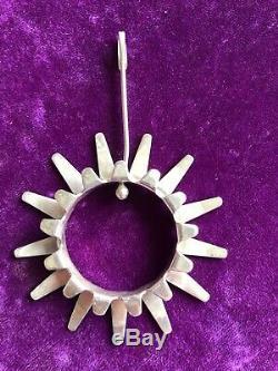 Vtg. Signed Tone Vigeland Norway 925 Sterling Silver Sun/sunburst Pendant