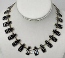 Willy Winaess David Andersen Sterling Silver Enamel Norway Norwegian Necklace